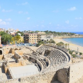 Vista aerea del Anfiteatro de Tarragona