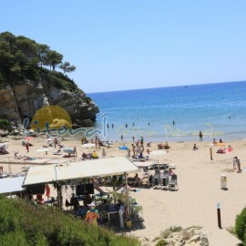 Cala Crancs beach in Cap Salou