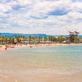 Vista panorámica de la playa de La Pineda