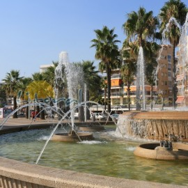 Salou centre, fountain